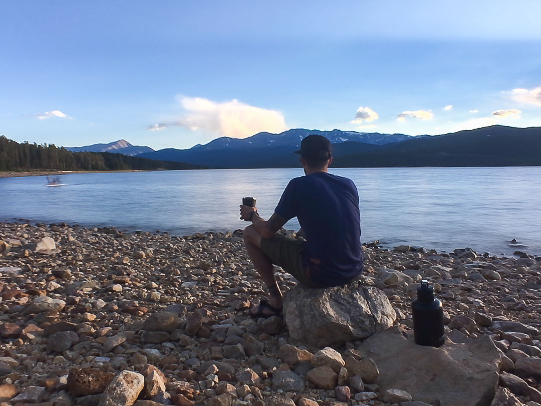 Beer on the beach, Turquoise Lake, Leadville, CO