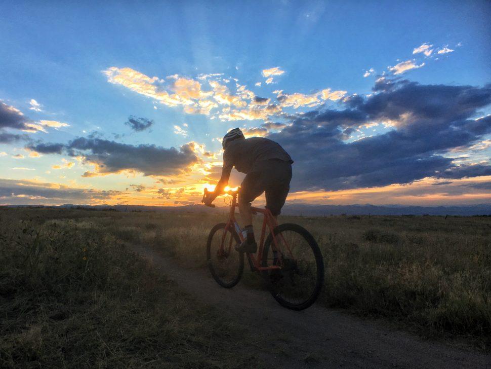 Colorado sunset from Ridgeline Open Space in Castle Rock, CO