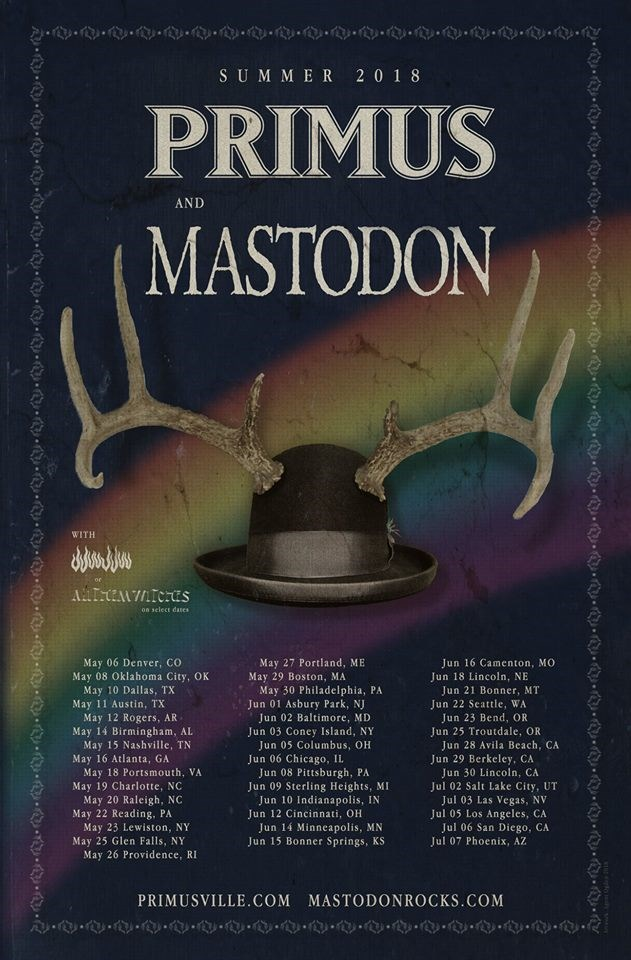 Primus And Mastodon Announce Summer Tour The Coloradist