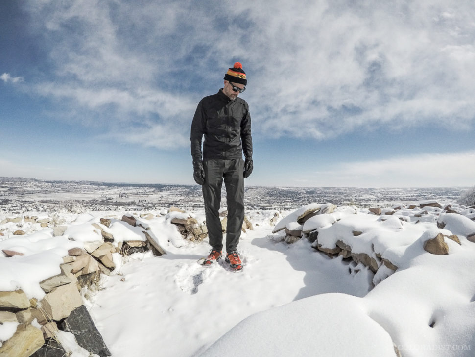 Mitch Kline in the Smartwool Men's PhD Ultra Light Sport Jacket, Feb 20, 2018, Castle Rock, CO
