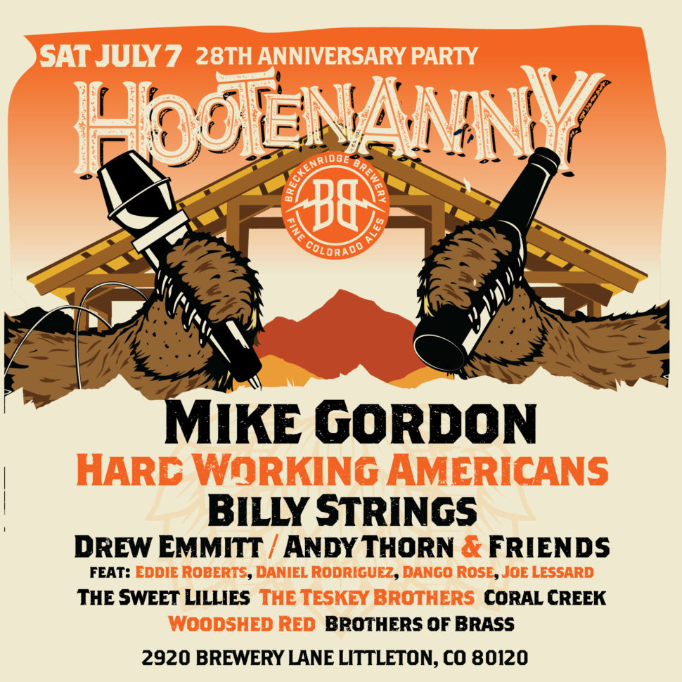 Breckenridge Brewery Announces 2018 Hootenanny Lineup Vip Tickets